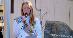 Wahlenmaier and Bejar Memorial Presentation By Girl Scout Bryn Cloud