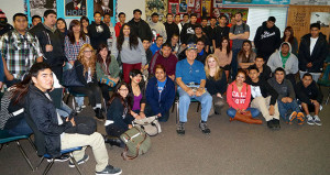 Cmdr. (Ret) Bob Hayes Visits Kings River High Students