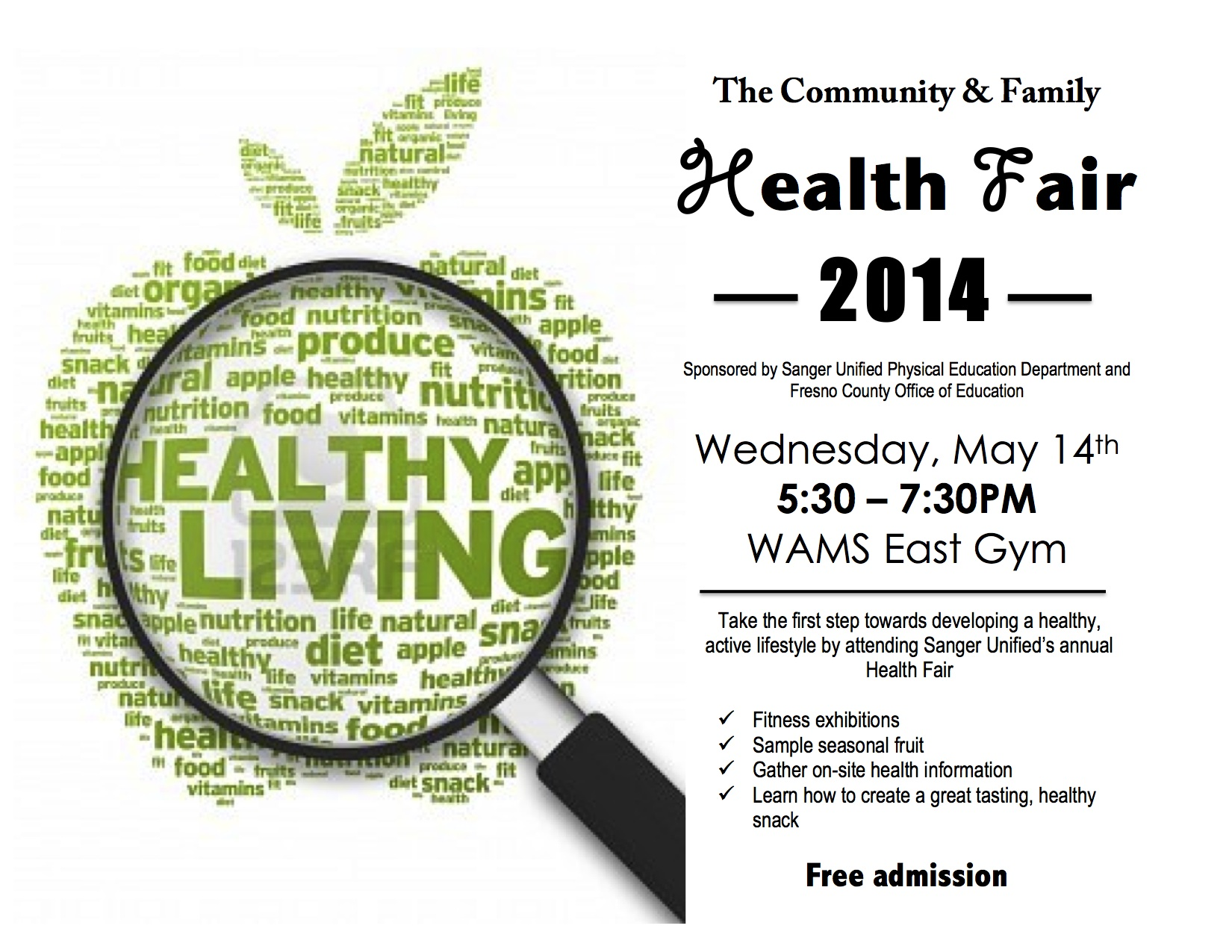 Community & Family Health Fair 2014 - The Sanger Scene