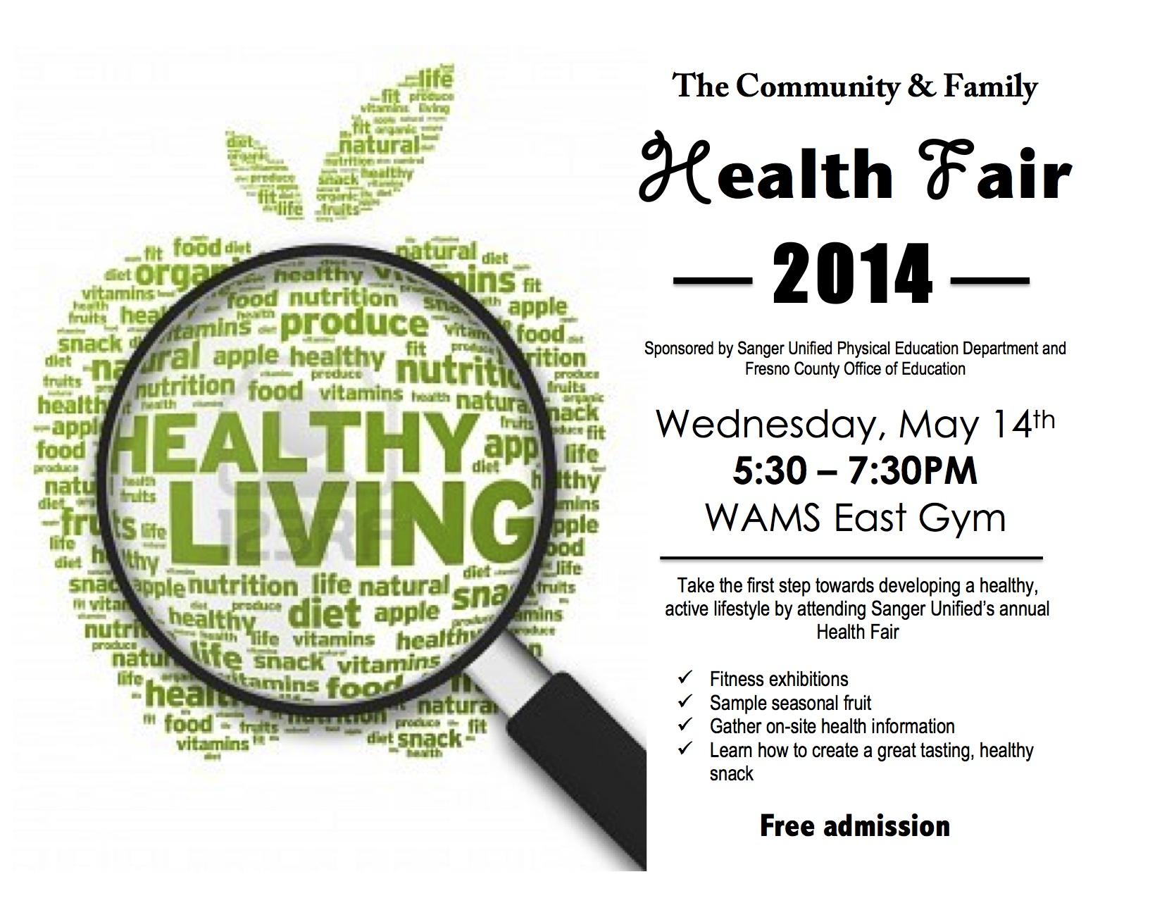 Community Amp Family Health Fair 2014 The Sanger Scene