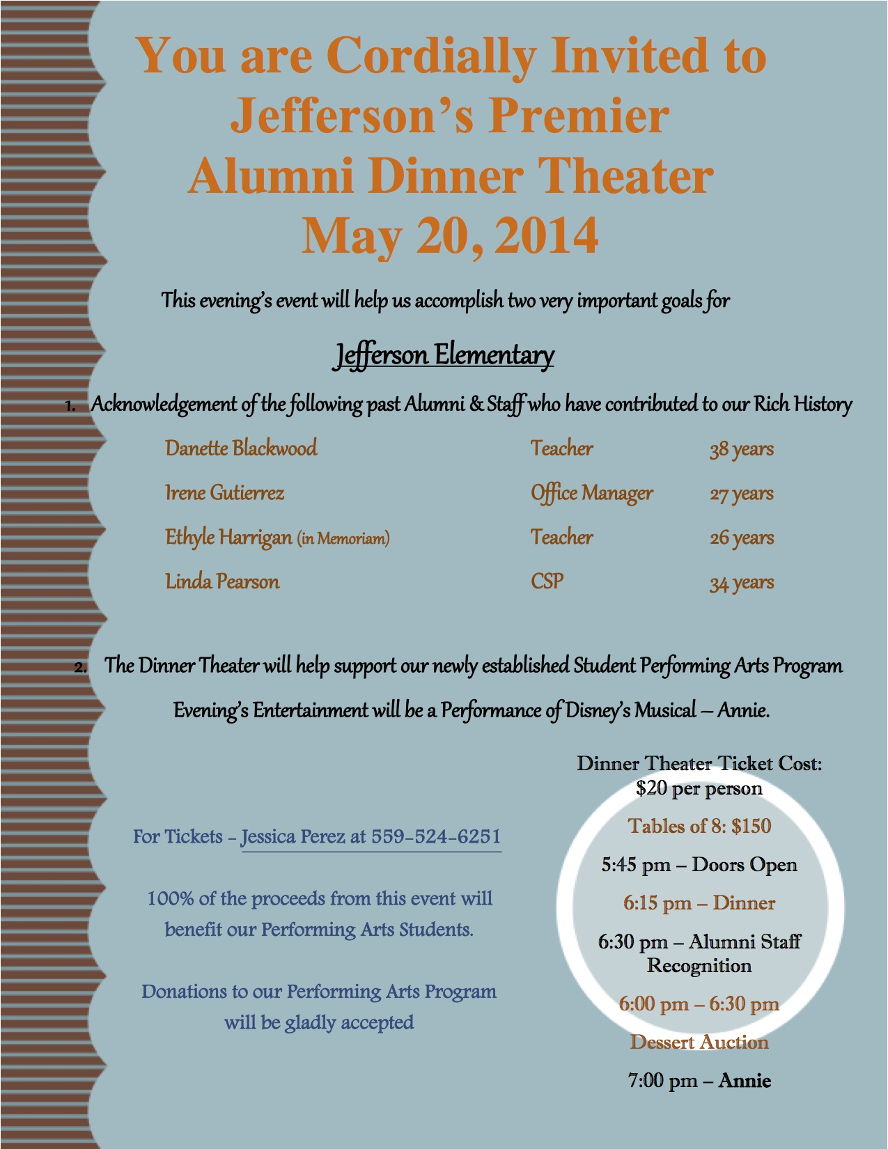 Jefferson Alumni Dinner Invitation copy The Sanger Scene