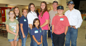 Fairmont 4-H members, from Sanger, participated in the training. L to R-Katrina Suarez, Stephani Anderson, Maddy Cumming, Rylee Rocca, Macie Richardson, Elle Cumming, Korbyn Moore, Mason Tarr and Hayden Tarr. (Photo by Cheryl Senn)