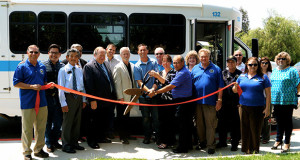 Ribbon Cutting for the Sanger Express Public Transit Route To Reedley College. (Photo by Cheryl Senn)