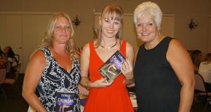 Publisher Kim Barton, Jesalyn Mae Harper and Jesalyn's mother Heather Harper. (Photo by Cheryl Senn)