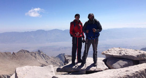 Sanger High Grads Ryan Caglia and Dave Guerra on top of Mt. Whitney.