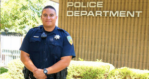 Sanger Police Officer Jose Soto is the new School Resource Officer. (Photo by Cheryl Senn)
