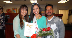 Miss Sanger 2014, Alexis Garcia, with her mom, Angie , and dad, Mario. (Photo by Cheryl Senn)