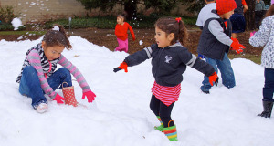 Snowball fights. (Photo by Cheryl Senn)
