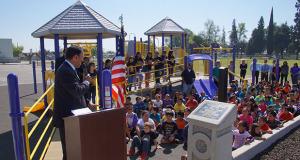 Matt Navo speaking to students.
