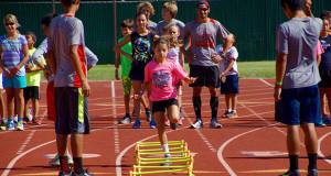 Low Hurdle Work Out. (Photo by Cheryl Senn)