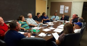 The Veterans Advisory Committee met to discuss the formation of the Veterans Parade Communication Committee. (Photo by Cheryl Senn)