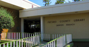 Fresno County Library-Sanger Branch exterior. (Photo courtesy  of Jesalyn Harper)