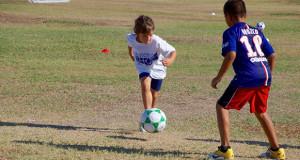 Soccer camp drills in action. (Photo by Cheryl Senn)
