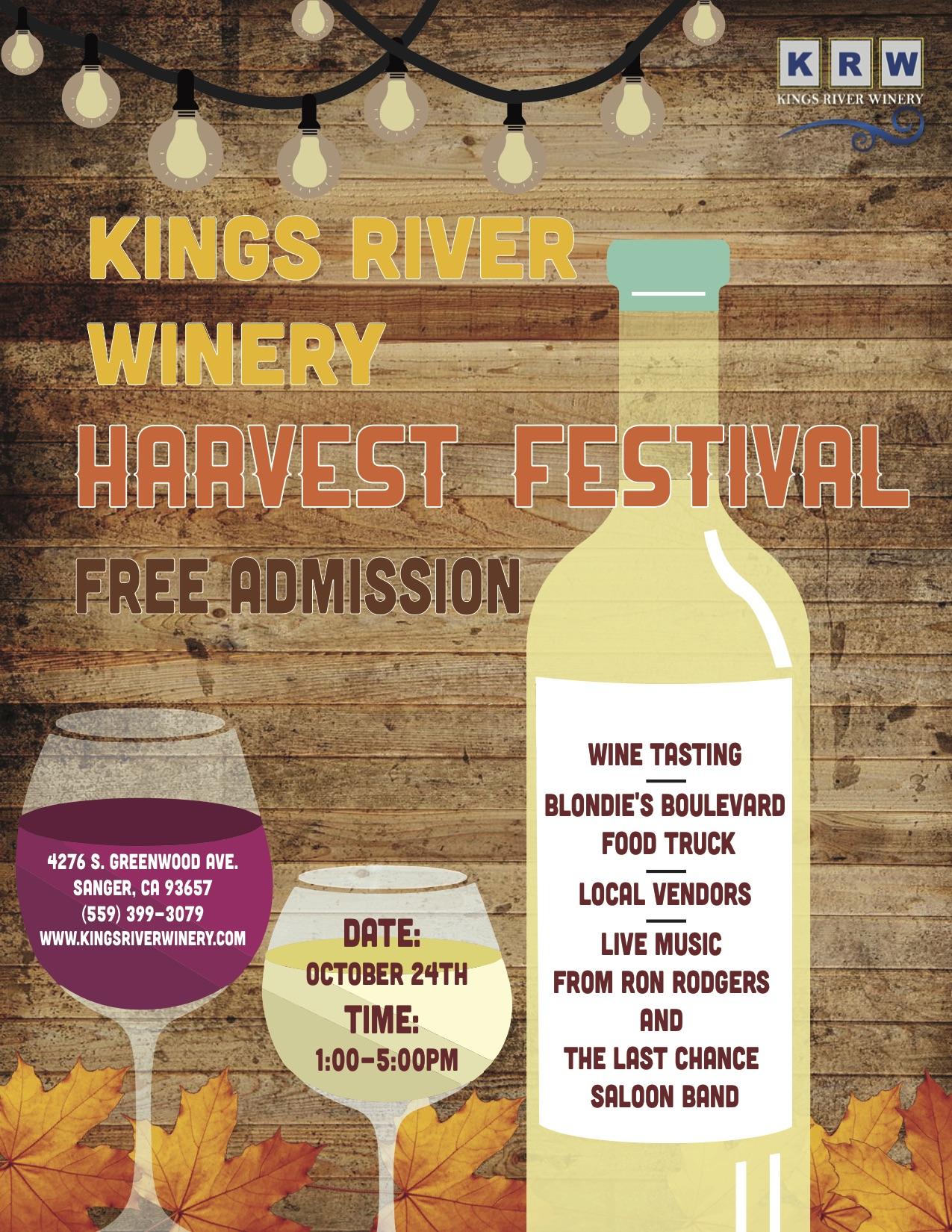 Kings river winery harvest fest the sanger scene for Grand interior designs kings heath
