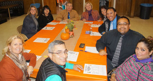 School administrators and parents gathered for the Sanger Unified Fall Roundtable Lunch. (Photo by Cheryl Senn)