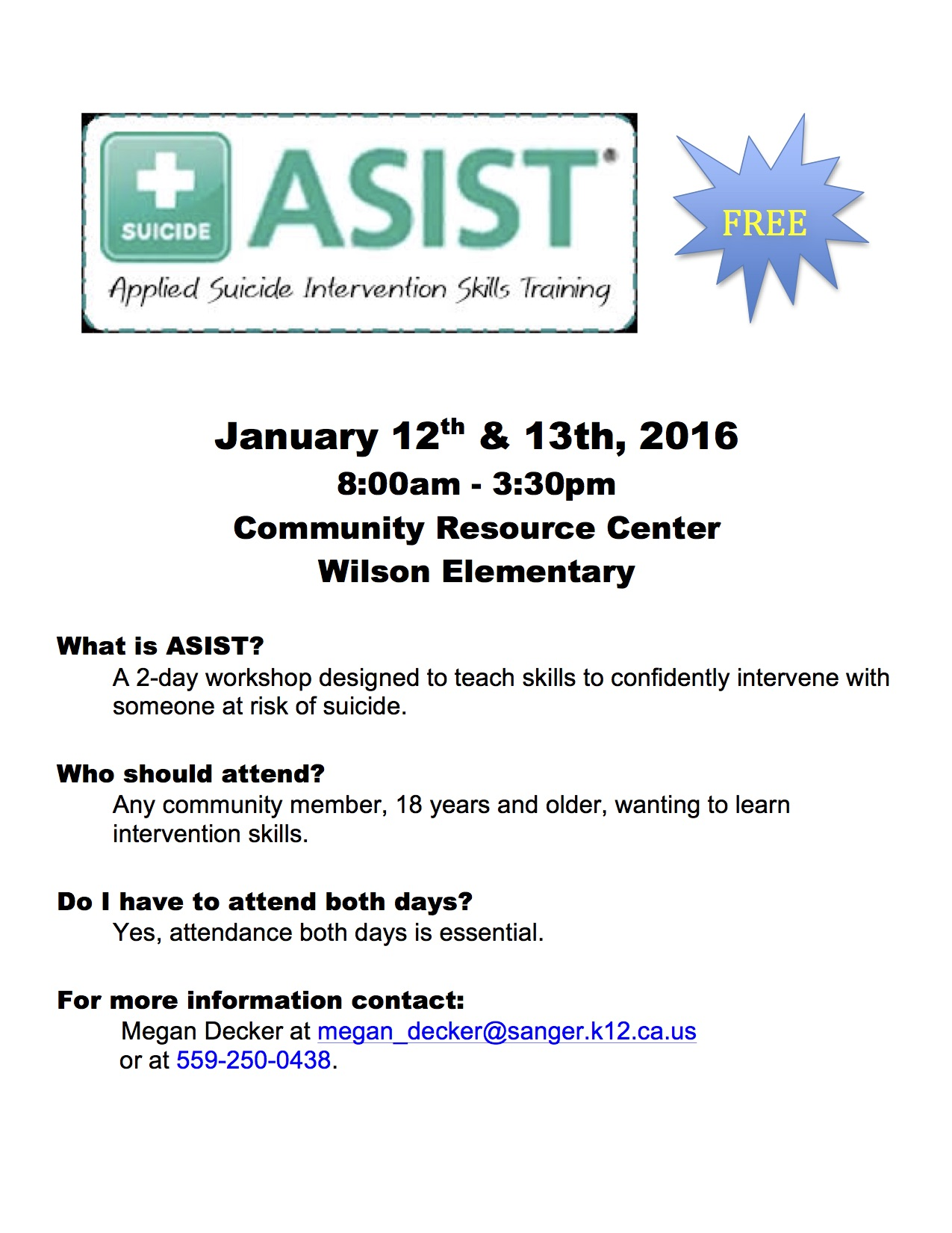 asist applied suicide intervention skills training   the