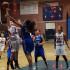 Stephanie Herring goes in for a basket. (Photo by Cheryl Senn)