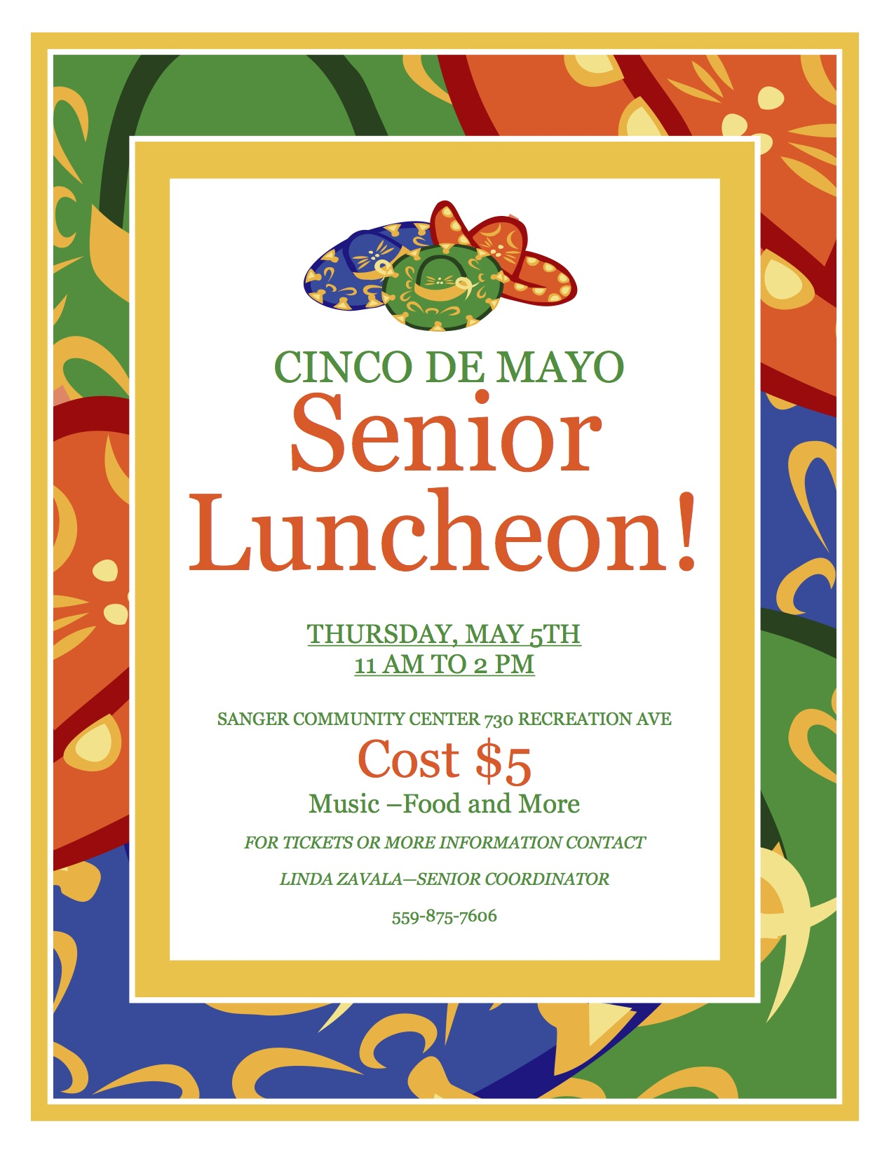 Cinco De Mayo Senior Luncheon - The Sanger Scene