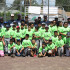 Group photo of baseball clinic participants and coaches. (Photo by Isaiah Lopez)