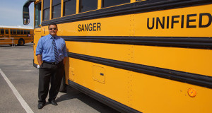 New Sanger Unified School District Director of Support Services, which includes the transportation department, Jimmy Robles, is looking forward to serving the district. (Photo by Cheryl Senn/The Sanger Scene).