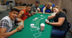 Sober Grad provided card table games to win cash tickets. (Photo by Cheryl Senn)