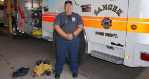David John (DJ) Bustamante at the Sanger Fire Department. (Photo by Cheryl Senn/The Sanger Scene)