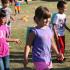 Savannah Newburry and classmates make their way around the Gallop-a-thon track. (Photo courtesy of Jodi Statham)