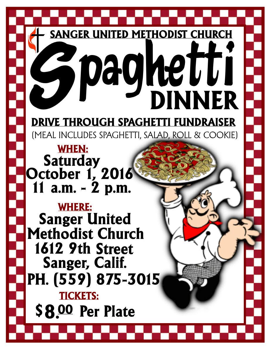 Sanger United Methodist Church Spaghetti Dinner Fundraiser