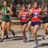 Clarissa Luna and Maria Lopez running the Girls Varsity 5K (3mile) race. (Photo by Cheryl Senn)