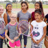 New WAMS Girls Tennis Coach Aly Honore, with the WAMS Girls Tennis team. L to R - Karlie Pattillo, Allison Hartsell, Denessa Flores, Heidi Rocha, Honore, Macy Hernandez, Evelyn Garcia and Eliana Ontiveros. (Photo by Cheryl Senn)