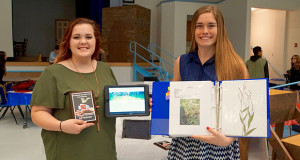 First place Plant Science Winners Allyson Highfill and Stephanie Herring. (Photo by Cheryl Senn)