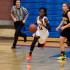 Cunisha Mitchell moving the ball for the Apaches. (Photo by Cheryl Senn)