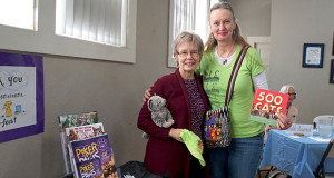 Sanger Woman's Club President Jeanne Adams and The Cat House on the Kings Donor Relations Volunteer Coordinator Beth Caffrey. (Photo by Cheryl Senn)