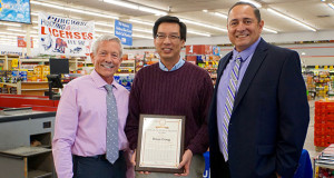 Dr. Ken Bird, Brian Gong and Sanger Mayor Frank Gonzalez. (Photo by Cheryl Senn)
