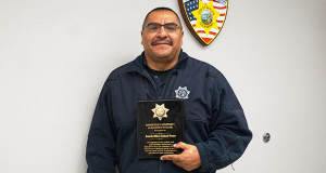 Richard Franco, 2016 Sanger Police Officer of the Year. (Photo by Cheryl Senn)