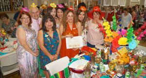 Most Creative Decorated Table was created by Blanca Peckham. Pictured is her award winning table with her guests. (Photo by Cheryl Senn)