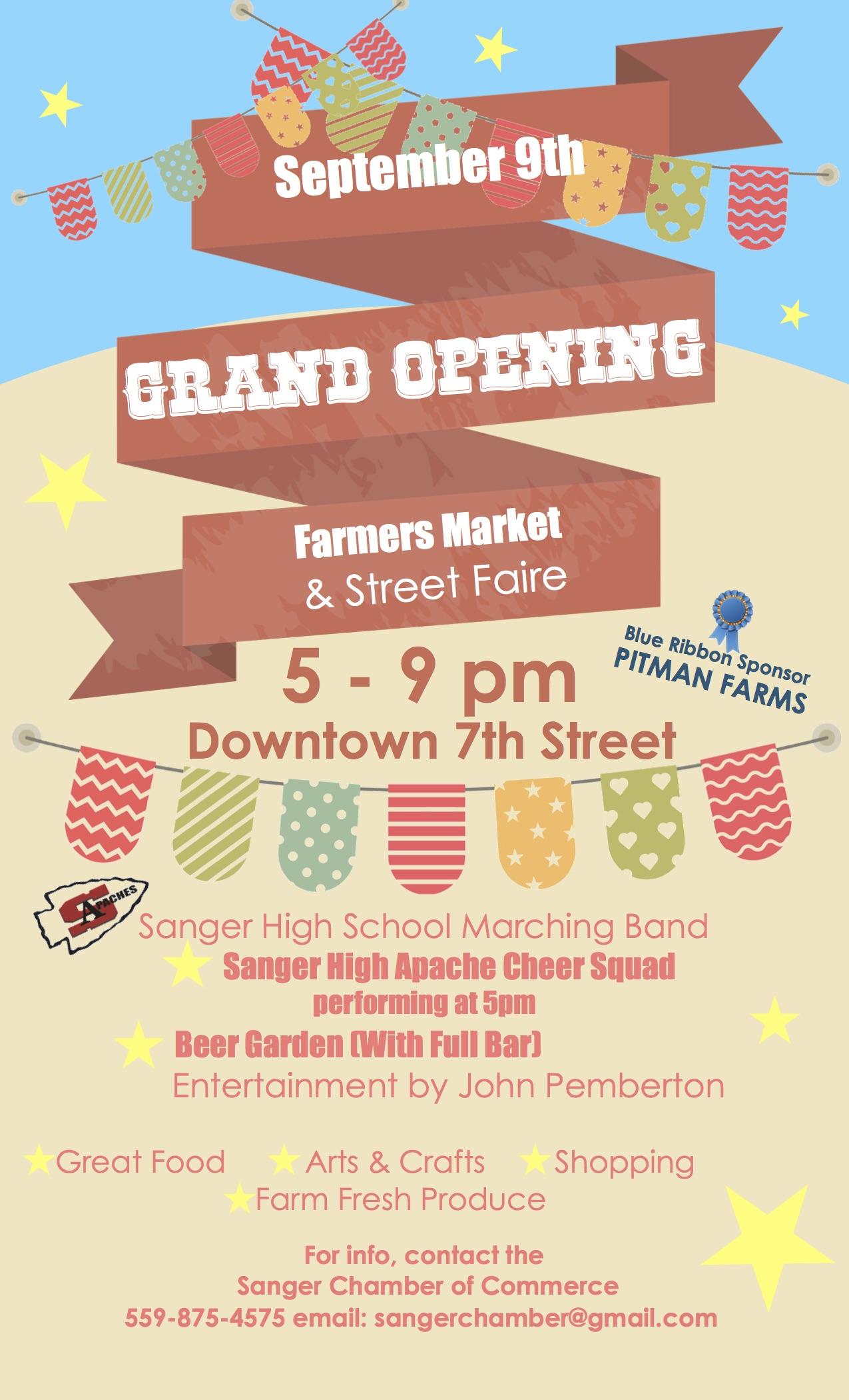Sanger Chamber of Commerce Farmers Market & Street Faire